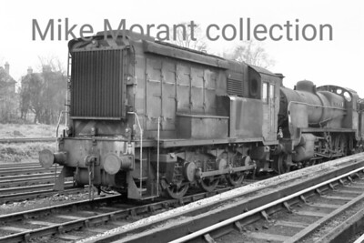 Maunsell 350 hp 0-6-0DE shunter no. 15203 at 75C Norwood mpd in 1961. Three of these locos were built in July 1937 and were originally designated as 'trip locos' but were found to be underpowered for that purpose and quickly found a use as yard shunters at Norwood. Apart from the duration of WW2 during which they were requisitioned by the War department for use at Martin Mill, they spent their entire careers based at norwood where they were all withdrawn by the end of 1964. [Mike Morant collection]