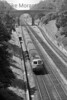 The Blue Pullman shimmies down the side of Sonning cutting on 11/6/53.<br> [<i>Mike Morant collection</i>]