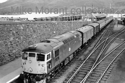 British Railways diesel An unidentified BRCW Sulzer class 26 at Kyle of Lochalsh in August 1973