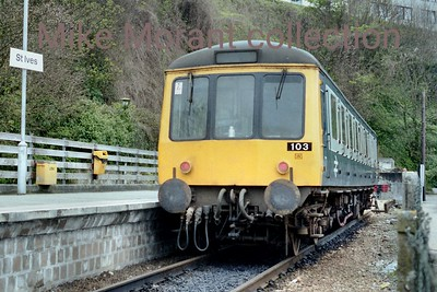 BR DMU no. 103 at St. Ives station circa 1985/6. [Mike Morant collection]