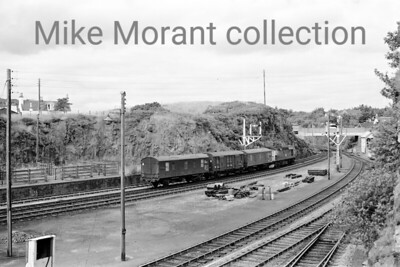 British Railways diesel An unidentified BRCW Sulzer class 26 executes a shunting manoeuvre in this nice panorama photographed at Kyle of Lochalsh in August 1973.