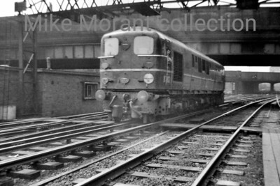 Bulleid designed 1-Co-Co-1 diesel electric no. 10202 leaves Euston station circa 1956. Photo taken by Mike Morant