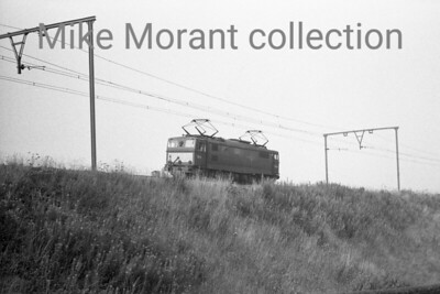 BR, Woodhead route, an unidentified  EM1 class Bo-Bo electric loco east of Hazlehead Bridge in October 1967. [Mike Morant collection]