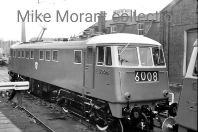 Brand new first generation WCML AL1 class Bo-Bo AC electric locomotive no. E3008 which was designed by British Thomson-Houston (BTH) and entered service in October 1960. Withdrawal as TOPS no. 81007 came in February 1990. E3008 was part of an exhibition of rolling stock at Battersea Wharf, where this shot was taken, from 3rd to 9th October 1960 in the company of locomotives E5022, E3028, E3041, E3050 and E3056 plus motor brake second E61416 (part of Bishop Stortford emu set 507) and motor brake second Sc61838 the first of the second batch of the Glasgow suburban scheme units (unit 062). RO, Nov 1960 page 345. [Mike Morant collection]