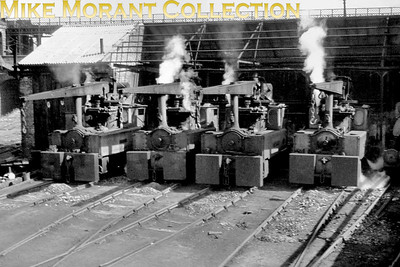 Four of the Doxford Shipyard (Sunderland) 0-4-0 crane tanks photographed in 1968. They are, from left to right, Roker, Hendon, Southwick  and Millfield. [Mike Morant collection]