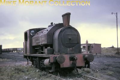 Hem Heath no. 1, Bagnall 0-6-0ST 3077/1955, at NCB Cannock Wood, Rawnsley on 31/8/70. [Mike Morant collection]