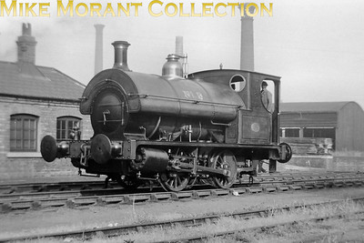"""Bass, Ratcliff & Gretton brewery 0-4-0ST No. 9 taken on 25/6/49 at, of course, at Burton-on-Trent. My thanks to Tom Burnham for the following: """"According to the IRS book """"Industrial Railways of South Staffordshire"""", Bass No 9 was built by Neilson, Reid & Co of Glasgow in 1901 (works no 5907).  I think it's now preserved at the National Brewery Centre in Burton."""""""