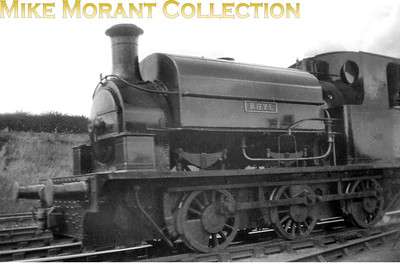 """Manning Wardle 2009/1921 0-6-0ST RHYL with a note on the back of the accompanying contact print: """"Corby; July 1930: N.S.S. Trip"""". I've been informed that this loco is still with us and is based at Ruddington. [Mike Morant collection]"""
