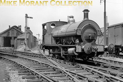 """Bass, Ratcliff & Gretton brewery 0-4-0ST No. 4 taken, of course, at Burton-on-Trent. My thanks to Tom Burnham for the following: """"Built new for Bass in 1913 by North British Locomotive at their Hyde Park works, Glasgow, works no. 19848.  Sold for scrap to Thos W Ward Ltd, Derby in August 1964 and cut up the following month (details from Industrial Railway Society handbook)."""" [Mike Morant collection]"""