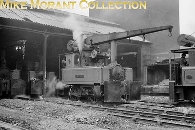 Doxford Shipyard (Sunderland) 0-4-0 crane tank Brownie was built by Hawthorn Leslie (2550/1902) and is depicted here on 26/4/61. [Mike Morant collection]