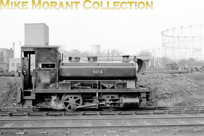 Andrew Barclay 1666/1920 was 0-4-0ST no. 4 in service with NTGB (North Thames Gas Board) at the Bromley-by-Bow gas works in East London and would be scrapped in a yard at Canning Town in 1963. [Mike Morant collection]