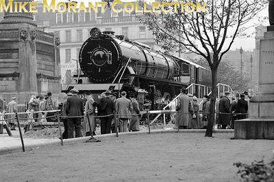 "According to a caption in the Glasgow Digital Library:"" this engine was one of 100 built at the Queen's Park Works during 1948-1950. One of the engines was displayed in George Square, with the Indian Government's permission, during Colonial Week in 1950. "" My own note is that the visible part of the number is ?324 with the first digit being either an '8' or a '9' whilst the initials 'I G R' are also visible and indicate Indian Government Railways. Also not mentioned anywhere is that this is a WG class 2-8-2 built by NBL but there is no mention anywhere that I've looked regarding the date which has probably been wiped off the calendar by the political correctors. However, most of the gaps in the data have been filled by Vic Smith: ""Order No. L978, 100 2-8-2 WG class locos for Indian Store Department. NBL Works nos. 26415 – 26514, running numbers 8301 – 8400. This will be 8324, works no. 26438."""