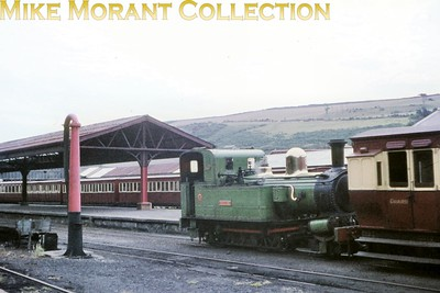 Isle of Man steam railway. Beyer Peacock 2-4-0T no. 11 Maitland at Douglas. [Mike Morant collection]