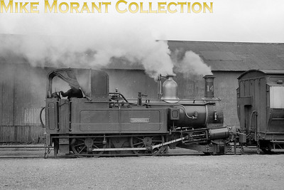 Isle of Man steam railway. Beyer Peacock 2-4-0T no. 14 Thornhill at Ramsey station in 1958. [Mike Morant collection]