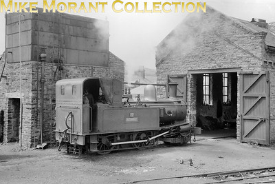 Isle of Man steam railway. Beyer Peacock 2-4-0T no. 12 Hutchinson at Port Erin in 1959. [Mike Morant collection]