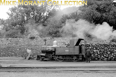 Isle of Man steam railway. Beyer Peacock 2-4-0T no. 6 Peveril at Douglas in 1960. [Mike Morant collection]