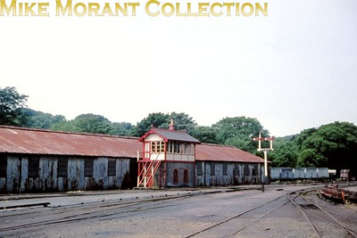 Isle of Man steam railway. The signal box at Douglas station. [Mike Morant collection]