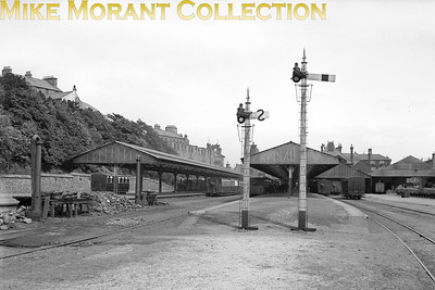 Isle of Man steam railway. A pre-war panoramic view of Douglas railway station taken from the country end. [Mike Morant collection]