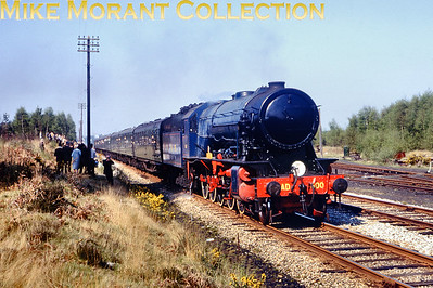 Longmoor Military Railway's WD 2-10-0 No. AD 600 Gordon 30/4/66. [Mike Morant collection]