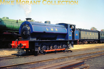 Longmoor Military Railway's J94 0-6-0ST No. 195 and  WD 2-10-0 No. AD 600 Gordon at Longmoor Downs on 30/4/66.
