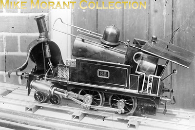 This is one of six damaged ¼ plate glass negatives given to me nearly 50 years ago that feature a steam driven model railway but beyond that I profess ignorance. Five of the six have been extensively digitally 'cleaned' but the shot of loco no. 88 with its innards showing proved to a bridge too far. The other glass negs in the same box all featured LBSCR locos at East, South and West Croydon. They were all taken before Marsh removed names and applied his umber livery which suggests pre-1905 but I doubt that these model railway shots are as old as that. [Mike Morant collection]