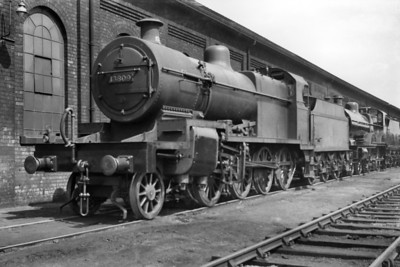 Fowler 7F 2-8-0 no. 13809 allegedly taken in 1937 but the stated location is risible. Was this S & D class overhauled at Crewe or Derby as one of those is the probable location for this shot? 13809 acquired its BR number 53809 in September 1949 and remained in service until withdrawal at Bath Green park shed in June 1964 and has survived into today's heritage era.