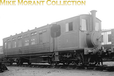 North Staffordshire Railway railmotor RM1 was a Beyer peacock product with works no. 4643 which was delivered to the NSR in June 1905 and was withdrawn in June 1927 by the LMSR but it was never assigned a post-grouping number. The date and location of this image aren't stated.