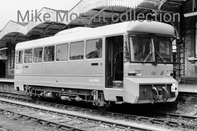 The British Railways first experimental lightweight attempt at a railbus was LEV1 (Leyland Experimental Vehicle 1) which entered service on BR in 1980 and is depicted here in June of that year at Ipswich station whilst working services to Lowestoft. In the 1980's (dates not known here) LEV1 went to the USA for trials and returned to be withdrawn from service in 1987 thereafter becoming part of the National Collection. It is still around and appears to move from heritage railway to heritage railway. [Mike Morant collection]