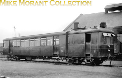 LMSR Sentinel railcar no. 3 with stock no. 4150. I've had difficuly tracking down worthwhile background data for this shot and so viewer input would be appreciated. There's neither date nor location on the negative's sleeve but all the LMS Sentinel railcars were withdrawn by 1936 and a viewer has pointed out they saw most of their service in Scotland. [Mike Morant collection]