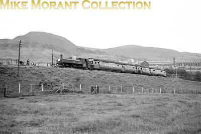 SLS: South Wales Mineral Lines 12/7/52 This tour made use of only Collett 6400 class 0-6-0PT No. 6423 with two autocoaches and is depicted here at Cilfynydd. 6423 was built at Swindon works in 1935 and was allocated to Cardiff Cathays mpd when this shot was taken. Merthyr in March 1956 would be her next and final shed withdrawal coming in August 1958.