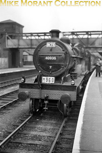 RCTS: Lincolnshire Rail Tour 16/4/54 This tour started and ended at Nottingham (Midland) and the legs from there to Lincoln and return were hauled by LMS Fowler 4P compound 4-4-0 no. 40935 as shown in this view. 40935 was a 16A Nottingham allocated engine at the time and would move to 21B Bournville in June 1957 whence withdrawal would come in March 1958. [Mike Morant collection]