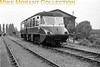 <b>London Railway Society: Diesel excursion 26/9/54</b><br> GWR Collett <i>Flying Banana</i> railcar no. W13 was used throughout and is depicted here at the GWR's Uxbridge High Street station which had closed to passenger traffic way back in 1939.<br> [<i>Mike Morant collection</i>]
