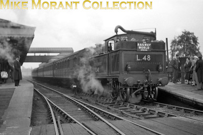 Ian Allan: The Railway World Special  23/5/54 London Transport 'E' class 0-4-4T no. L48 at Aylesbury's Met & GC station. [Mike Morant collection]