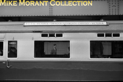 RCTS: Swindon & Highworth Railtour 25/4/54 The tour train's carriage roof board. [Mike Morant collection]