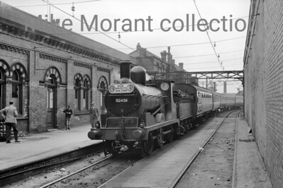 SLS/MLS Old Manchester Railtour 12/5/56 Hughes 3F - LYR class 41 -0-6-0No. 52438 handled most of the day's work and is depicted here at Manchester's Oxford Road station.