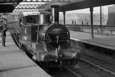 LCGB: Poplar & Edgware Rail Tour 5/5/56. This was an afternoon tour that started and ended at London's Broad Street station with former NLR Parker designed 0-6-0T no. 58859 in charge. The first leg was as far as Poplar and the last was from Canonbury following which this shot was taken. [Mike Morant collection]