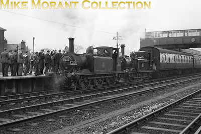 LCGB: Southern Counties Limited 24/2/57 There was seemingly no end to the ingenuity of railtour planners when it came to routes and motive power. This tour started at Marylebone in the heart of London with a pair of former MS&LR Parker N5 0-6-2T's, 69257 and 69313, as the motive power and went to Waterloo via the bluebell line, Brighton, Hayling Island and Portsmouth Harbour. Depicted here at Havant, the motive power for the Hayling Island leg of the tour was a pair of Stroudley A1X 'Terriers' nos. 32636 and 36250.
