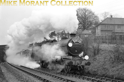 LCGB Southern Counties Limited 24/2/57 This tour had a most unusual itinerary starting from London's Marylebone station behind ex-GCR motive power whilst later including the Blubell line and the Hayling Island branch. Here we see Marsh atlantic No. 32424 Beachy Head at Sanderstead.