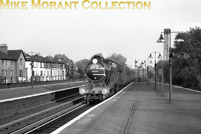 SLS: London, Chatham & Dover Rail Tour 19/5/57 Maunsell D1 class 4-4-0 no. 31545 was exquisitely turned out for this tour and is depicted here passing through Shortlands on the homeward run from Folkestone Junction to Holborn Viaduct.