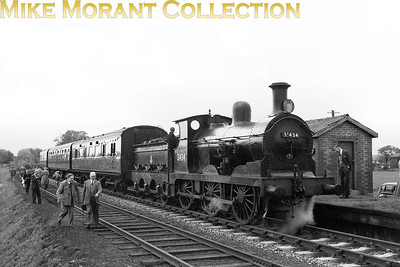 SLS: London, Chatham & Dover Rail Tour 19/5/57 Wainwright/Stirling O1 class 0-6-0 no. 31434 at Eythorne on the former East Kent Railway. This is actually a top 'n' tailed train with another O1, no. 31425, out of sight in this picture