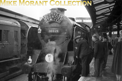 LCGB: Southern Counties Limited 24/2/57 There was seemingly no end to the ingenuity of railtour planners when it came to routes and motive power. This tour started at Marylebone in the heart of London with a pair of former MS&LR Parker N5 0-6-2T's, 69257 and 69313, as the motive power and went to Waterloo via the bluebell line, Brighton, Hayling Island and Portsmouth Harbour. Maunsell Schools class 4-4-0 no.30929 Malvern took over haulage duties for the final leg from Portsmouth Harbour to Waterloo.