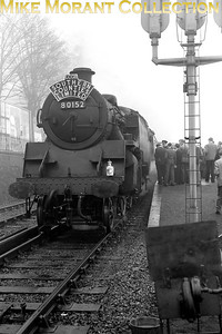 LCGB: Southern Counties Limited 24/2/57 There was seemingly no end to the ingenuity of railtour planners when it came to routes and motive power. This tour started at Marylebone in the heart of London with a pair of former MS&LR Parker N5 0-6-2T's, 69257 and 69313, as the motive power and went to Waterloo via the bluebell line, Brighton, Hayling Island and Portsmouth Harbour. Depicted here at Havant, the motive power for the penultimate leg of the tour to Portsmouth Harbour was BR Standard 4MT 2-6-4T no. 80152.