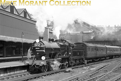 SLS: London, Chatham & Dover Rail Tour 19/5/57 Maunsell D1 class 4-4-0 no. 31545 was exquisitely turned out for this tour and is depicted here departing from Victoria.