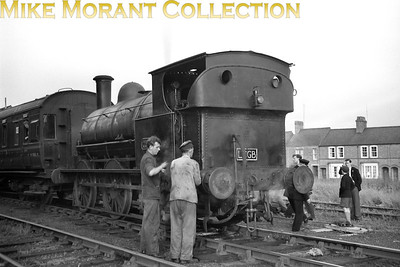 LCGB: North Western Branch Lines 28/6/58 LNWR Ramsbottom 0-6-0ST 'Special Tank' CD7 was one of the Wolverton carriage works shunters and is depicted here at Newport Pagnell which was still open when this shot was taken. The tour originated at St. Pancras behind a Fowler 2P 4-4-0 and went on to include visits to Rickmansworth Church Street and Aylesbury High Street.