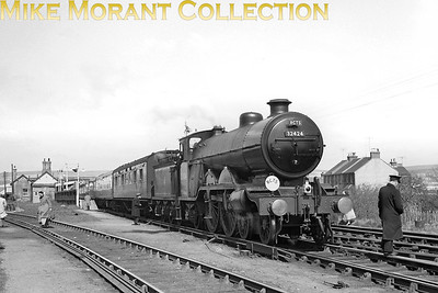 RCTS Sussex Coast Limited 13/4/58 Former LBSCR Marsh atlantic No. 32424 Beachy Head at Newhaven Town station whilst performing the last rites for British atlantic locomotives. A viewer has noted that the leading tender axle box cover is missing. It disappeared somewhere on the journey between Victoria and Newhaven. [Mike Morant collection]