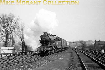 RCTS Sussex Coast Limited 13/4/58 LBSCR Marsh atlantic No. 32424 Beachy Head approaches Purley Oaks station during the last rites for Btiish atlantic locomotives.
