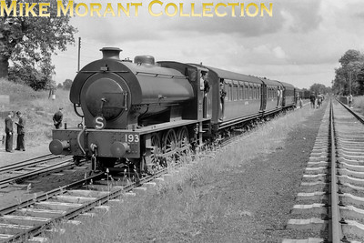 SLS: Last Train on the Shropshire and Montgomeryshire Railway 20/3/60 Austerity J94 0-6-0ST no. WD193 at Kinnerley. [Mike Morant collection]