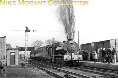 SLS: Last Train on the Shropshire and Montgomeryshire Railway 20/3/60 Austerity J94 0-6-0ST no. WD193 at Kinnerley Junction. [Mike Morant collection]