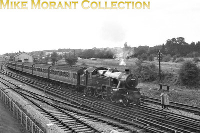 London Transport: Farewell to Steam Tour 9/9/61 Fairburn 4MT 2-6-4T No. 42070 departs from Amersham with LT stock heading for Rickmansworth where electric traction would replace steam. 42070 was a Neasdewn based loco at this time but would migrate to Cricklewood and then Stoke-on-Trent before withdrawal in 1965.