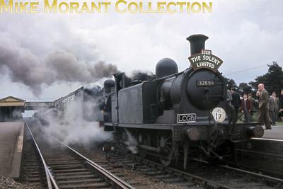 LCGB: Solent Limited 30/4/61 LBSCR Stroudley E1/R class 0-6-2T no. 32694 and LSWR Adams O2 class 0-4-4T no. 30200 at Fareham.
